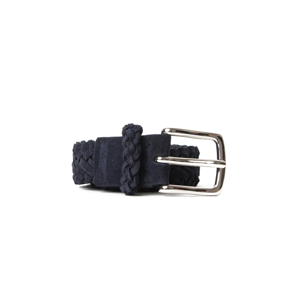 [ESFAI] BRAIDED SUEDE BELT (NAVY)