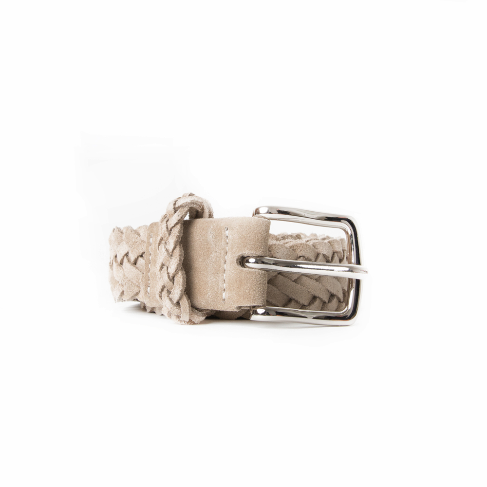 [ESFAI] BRAIDED SUEDE BELT (SAND)