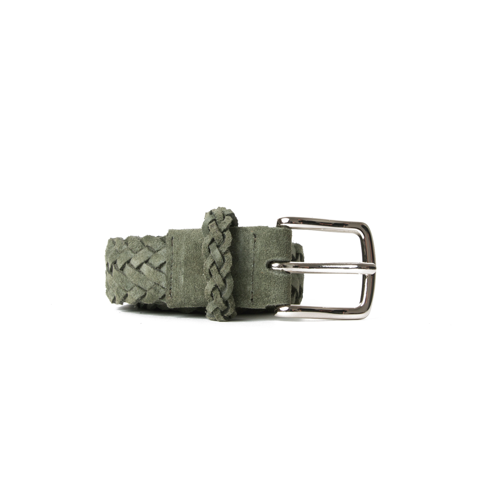 [ESFAI] BRAIDED SUEDE BELT (GREEN)
