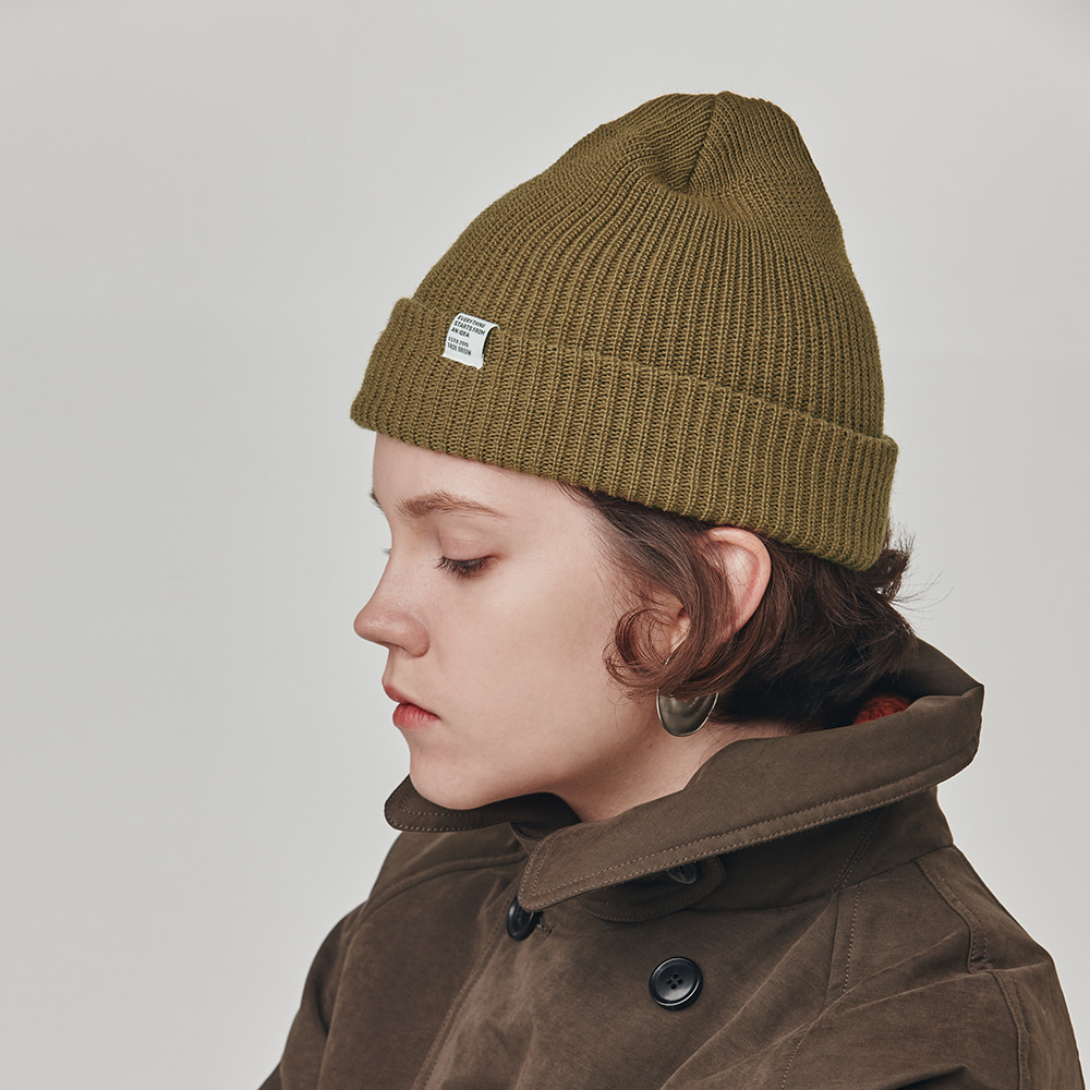 [ESFAI] ESTD Watch Caps (Khaki)