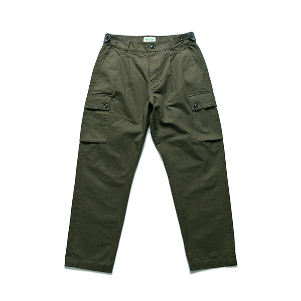 [ESFAI] EP Tapered Cotton and Cargo Trousers (KHAKI)