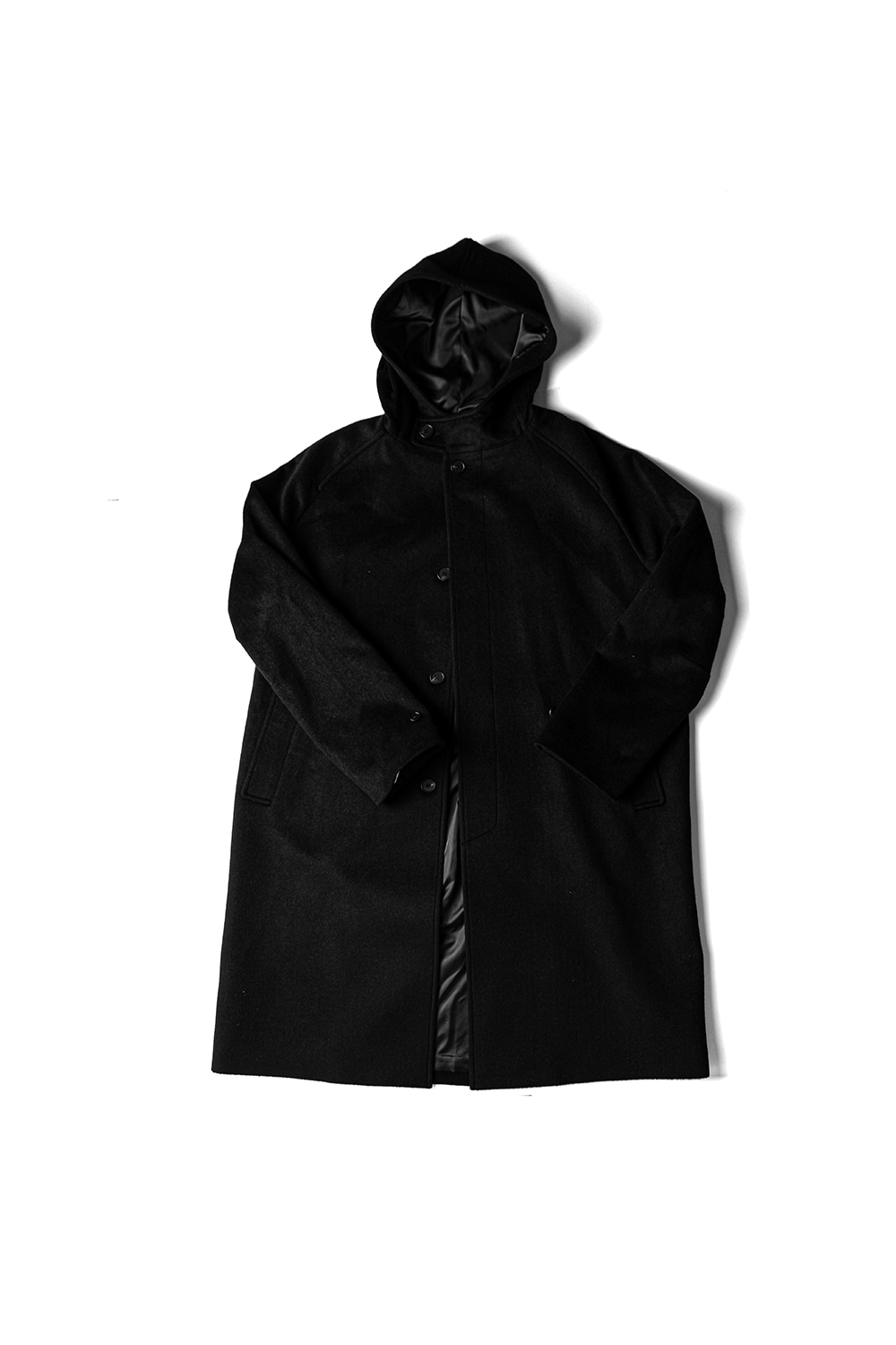 [Ourselves] WOOLCASH HOODED COAT (BK)