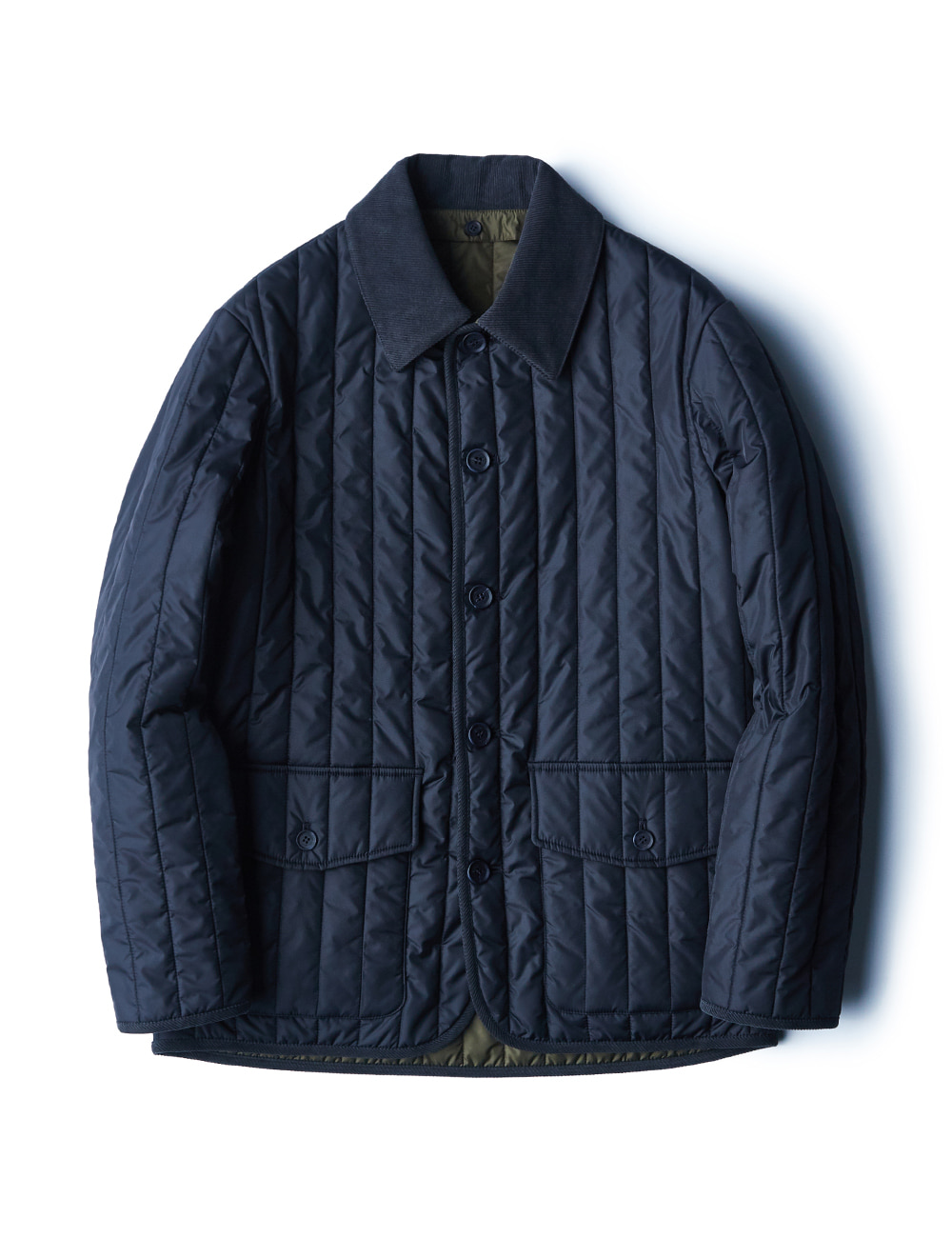 [ESFAI] fd09 Quilted Jacket (Navy)