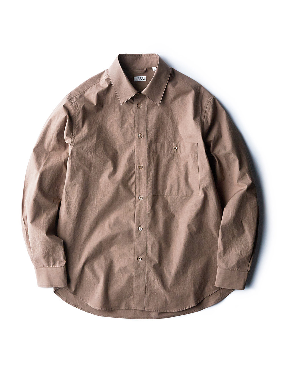 [ESFAI] sj27 standard shirts (Brown)