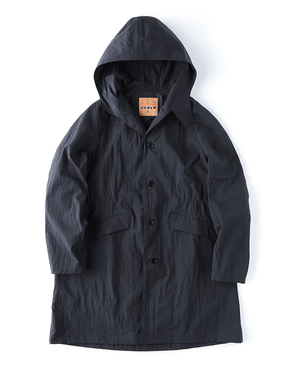 r28  hylon over coat (Black)