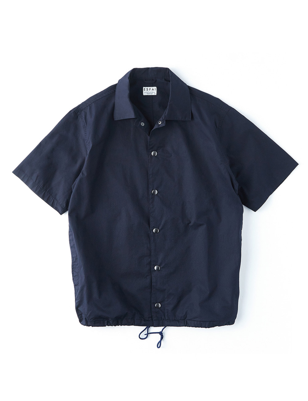 [ESFAI] Half Sleeve Coach Shirt (Navy)