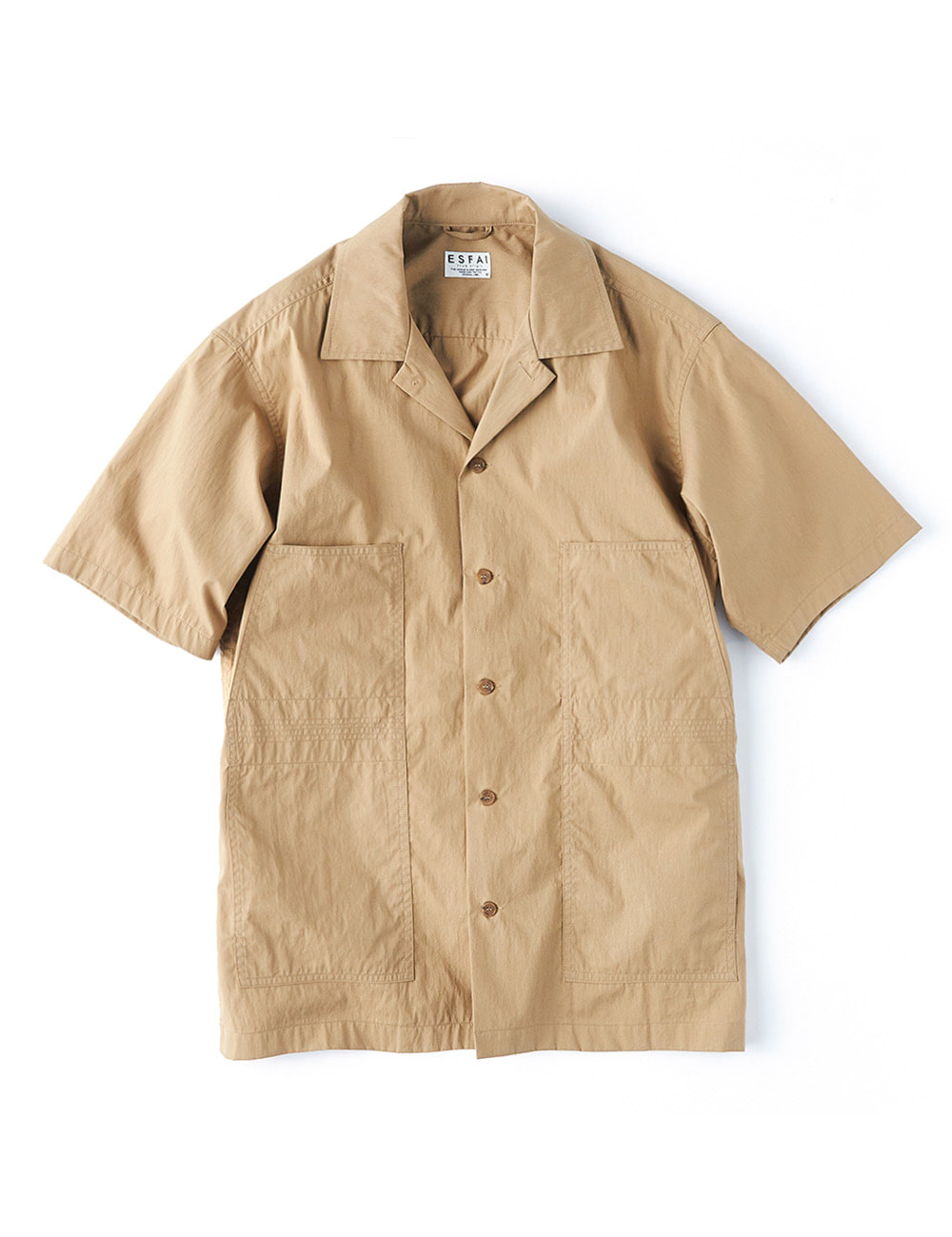 [ESFAI] Finger Stitch Shirts (Beige)