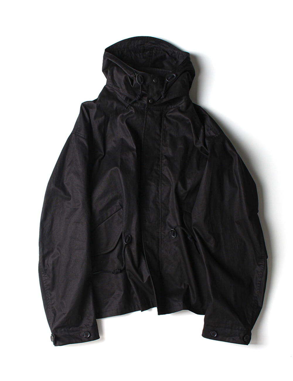 [Ourselves] M-65 FISHTAIL SHORT PARKA (Smoke black)