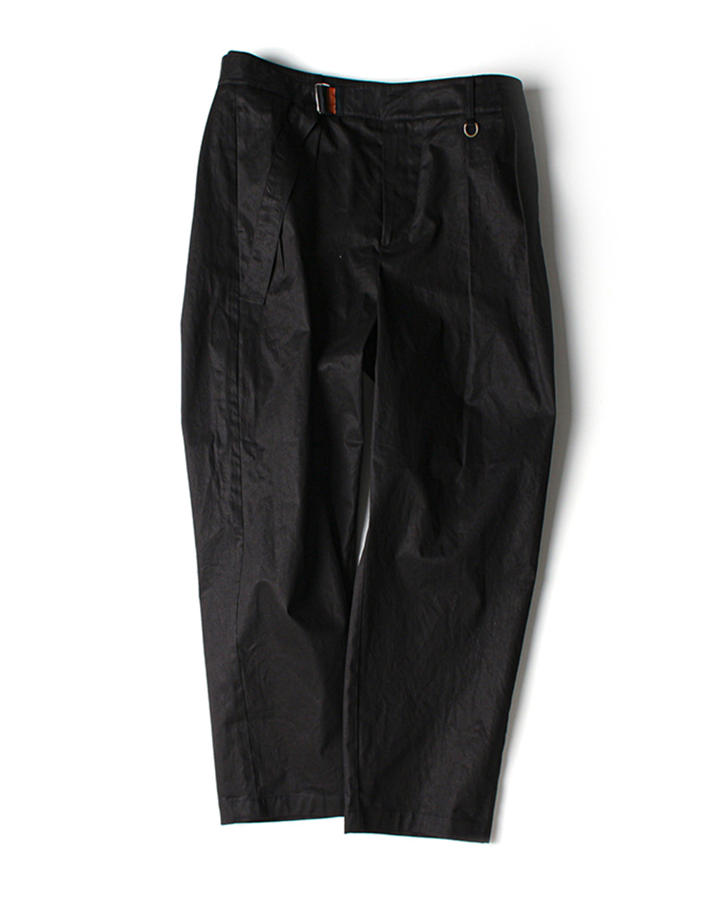 [Ourselves] BELTED CHINO PANTS (Real black)