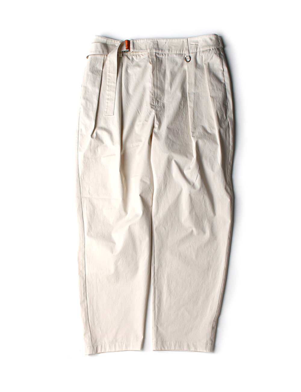 [Ourselves] BELTED CHINO PANTS (French white)