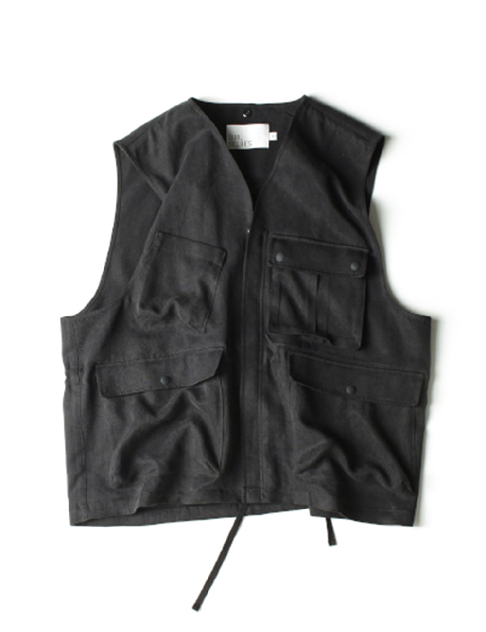[Ourselves] TENCEL M-70 FIELD VEST (Vintage charcoal)