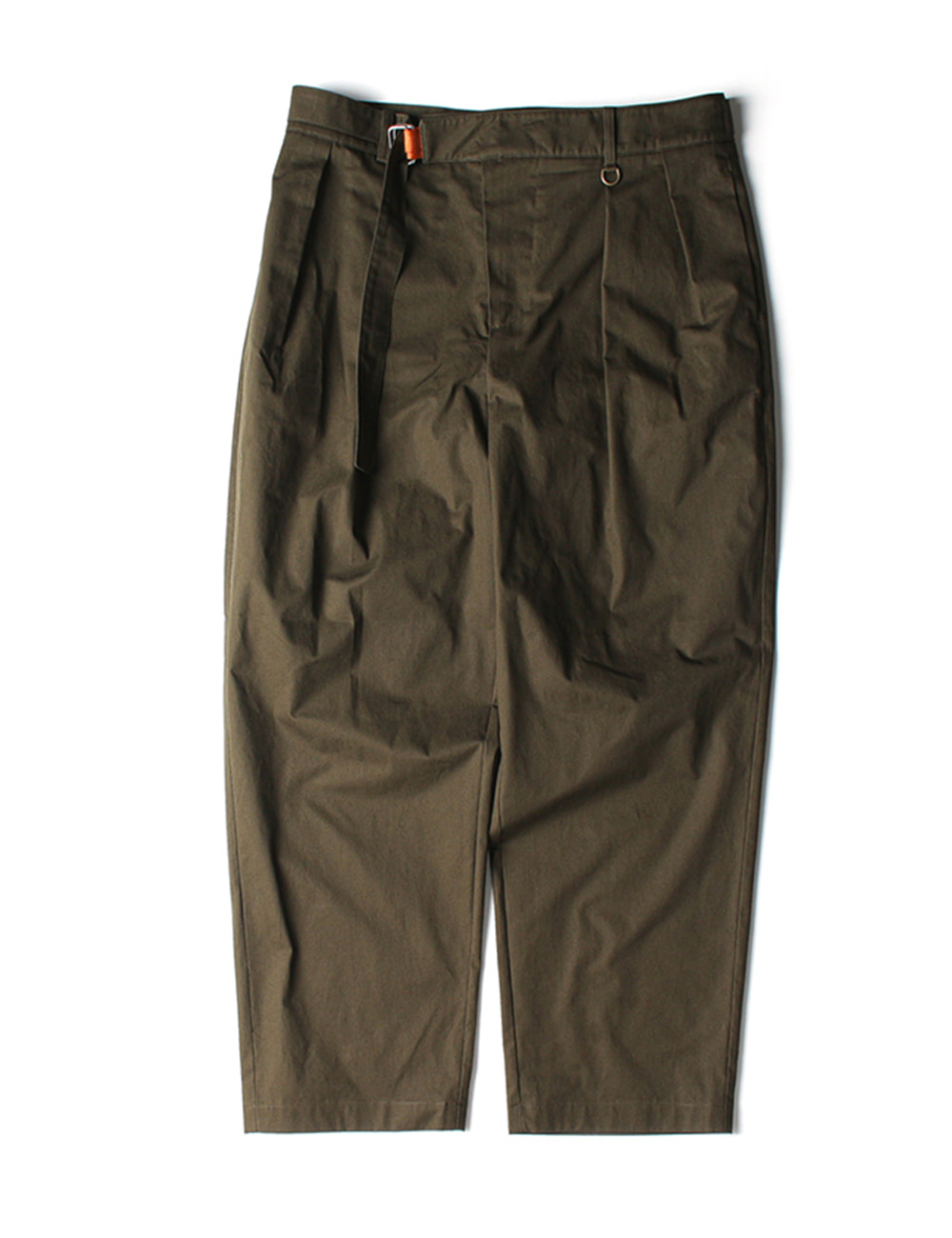 [Ourselves] BELTED CHINO PANTS (Olive khaki)