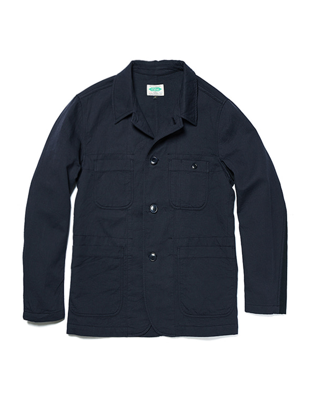 [ESFAI] UNCONSTRUCTED CASUAL JACKET (NAVY)