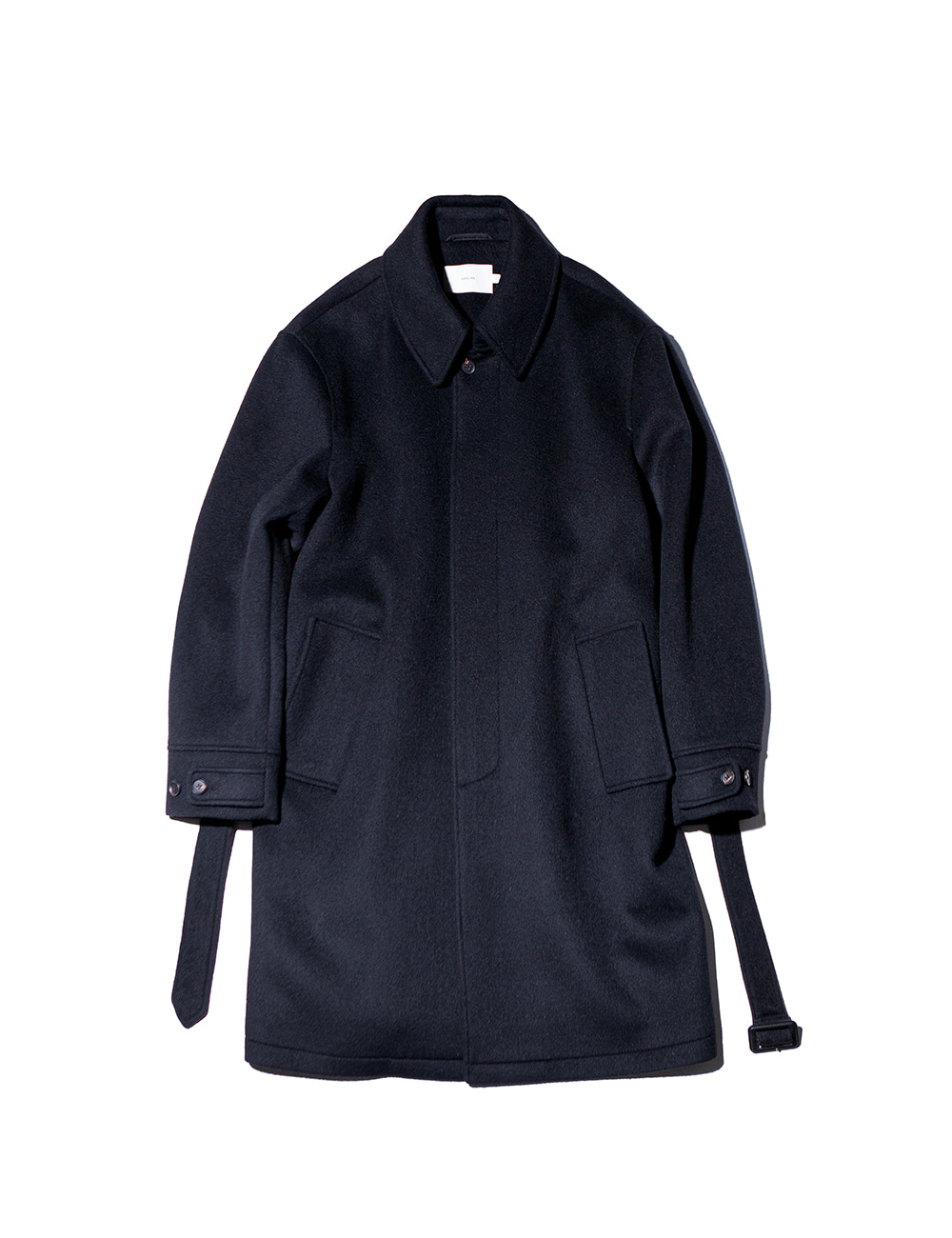 [Ourselves] SOFT WOOL BELTED MAC COAT (Real black)