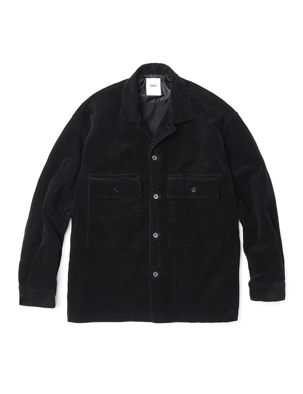[ESFAI] SO25 CORDUROY SET UP JACKET (BLACK)