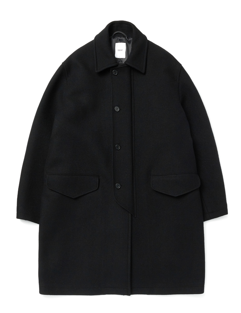 *RESTOCK 12월 14일 예약발송* [ESFAI] SO30 COVER COAT (BLACK)
