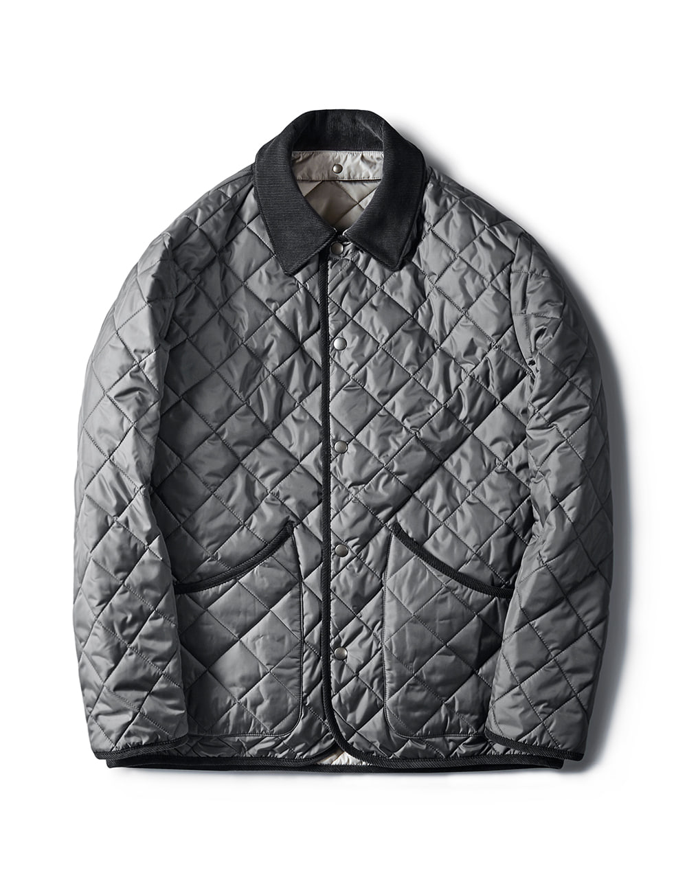 [ESFAI] VOL 3. SN26 DIAMOND QUILTED JACKET (GREY)